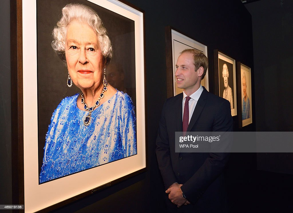 Prince William, Duke of Cambridge admires the David Bailey Portrait of the Queen as he visits the GREAT British Festival of Creativity on March 3, 2015 in Shanghai, China. Prince William, Duke of Cambridge is on a four day visit to China. He is the most senior royal to visit China since the Queen and Duke of Edinburgh in 1986. His visit follows on from a successful four day visit to Japan