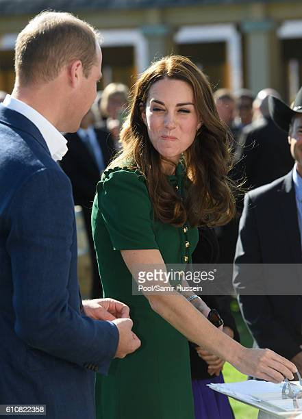 Prince William Duke of Cambridge and Catherinde Duchess of Cambridge sample Indian food cooked by Vikram Vij at Mission Hill Winery on September 27...