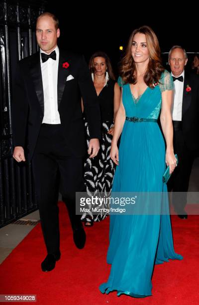 Prince William Duke of Cambridge and Catherine Duchess of Cambridge attend the Tusk Conservation Awards at Banqueting House on November 8 2018 in...