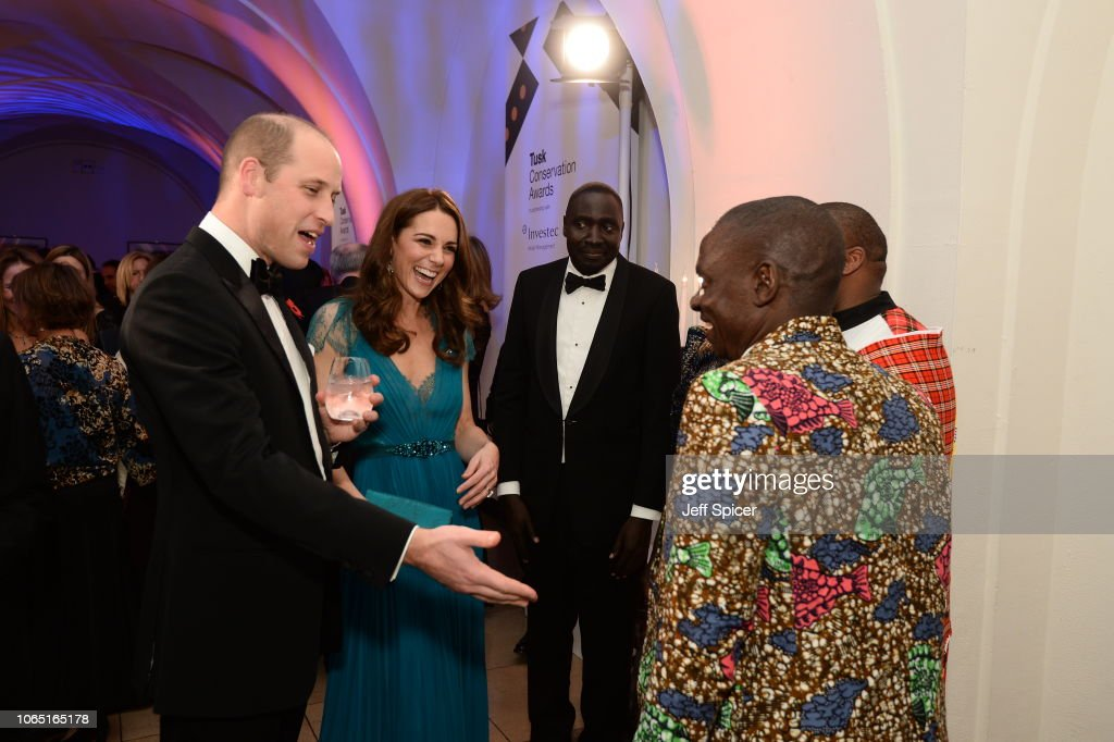 The Duke And Duchess Of Cambridge Attend The Tusk Conservation Awards : News Photo