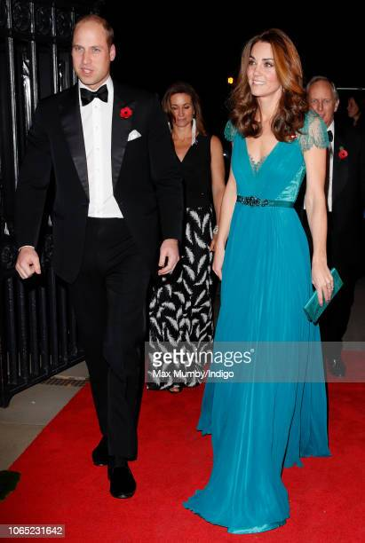 Prince William, Duke of Cambridge and Catherine, Duchess of Cambridge attend the Tusk Conservation Awards at Banqueting House on November 8, 2018 in...