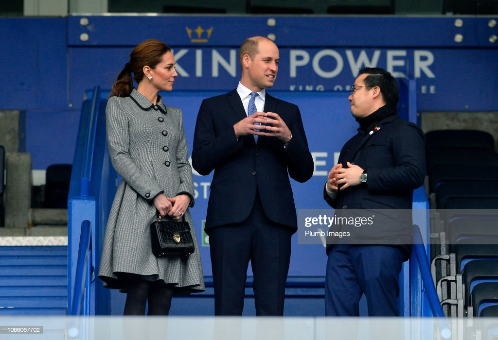 The Duke And Duchess Of Cambridge Visit Leicester City FC : News Photo