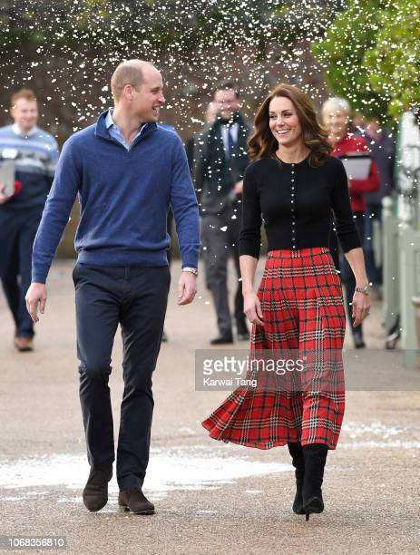 Prince William Duke of Cambridge and Catherine Duchess of Cambridge host a Christmas party for families of military personnel deployed in Cyprus at...