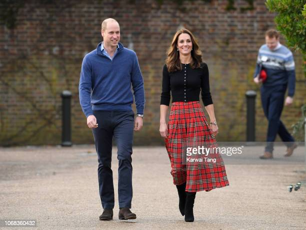 Prince William, Duke of Cambridge and Catherine, Duchess of Cambridge host a Christmas party for families of military personnel deployed in Cyprus at...