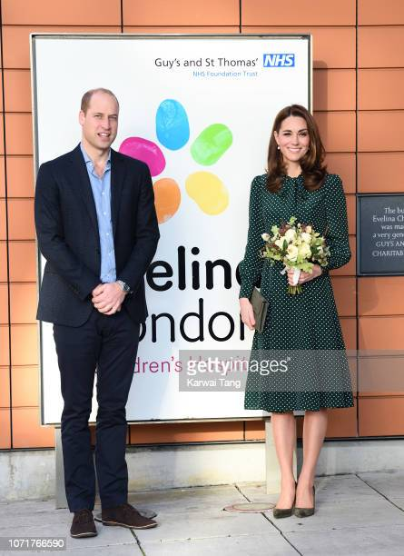 Prince William Duke of Cambridge and Catherine Duchess of Cambridge visit the Evelina Children's Hospital on December 11 2018 in London England