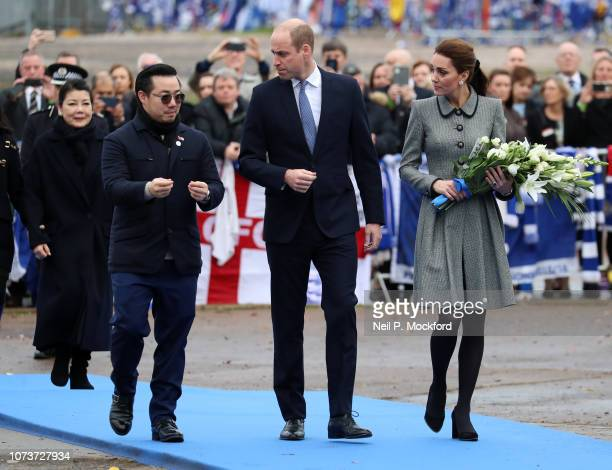 Prince William Duke of Cambridge and Catherine Duchess of Cambridge Cambridge pay tribute to those who were tragically killed in the helicopter crash...