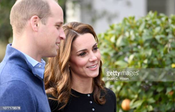 Prince William, Duke of Cambridge and Catherine, Duchess of Cambridge host a Christmas party to deliver a message of support to deployed personnel...