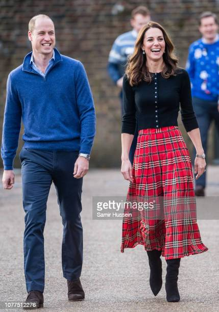Prince William Duke of Cambridge and Catherine Duchess of Cambridge attend a party for families of military personnel deployed in Cyprus at...