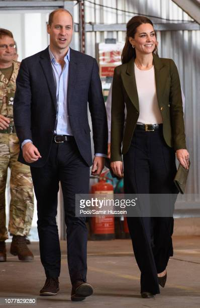 Prince William Duke of Cambridge and Catherine Duchess of Cambridge speaks to serving personnel during an official visit to RAF Akrotiri on December...