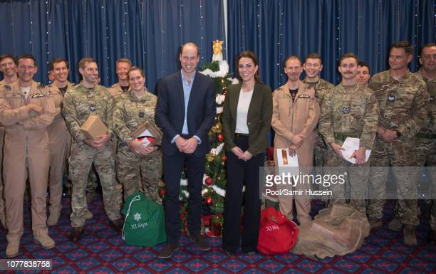 DAYS*** Prince William Duke of Cambridge and Catherine Duchess of Cambridge visits the mess hall to meet family members and personnel at the Akrotiri...