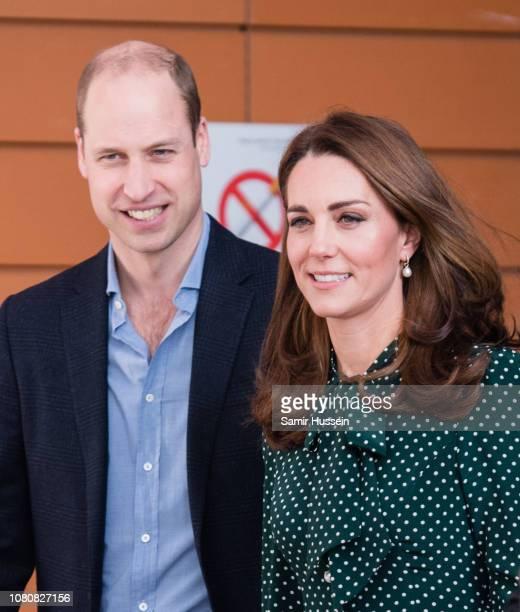 Prince William, Duke of Cambridge and Catherine, Duchess of Cambridge visit Evelina London Children's Hospital on December 11, 2018 in London,...