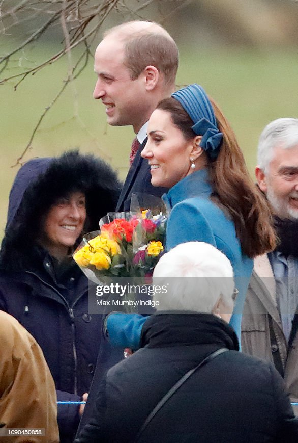 The Royal Family Attend Church At Sandringham : News Photo