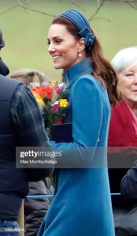 The Royal Family Attend Church At Sandringham : Nachrichtenfoto