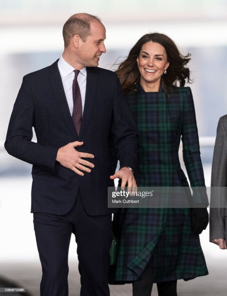 GBR: The Duke And Duchess Of Cambridge Visit Dundee