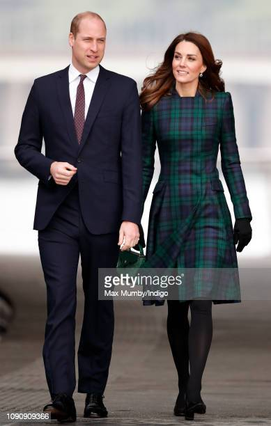 Prince William, Duke of Cambridge and Catherine, Duchess of Cambridge arrive to officially open V&A Dundee, Scotland's first design museum on January...