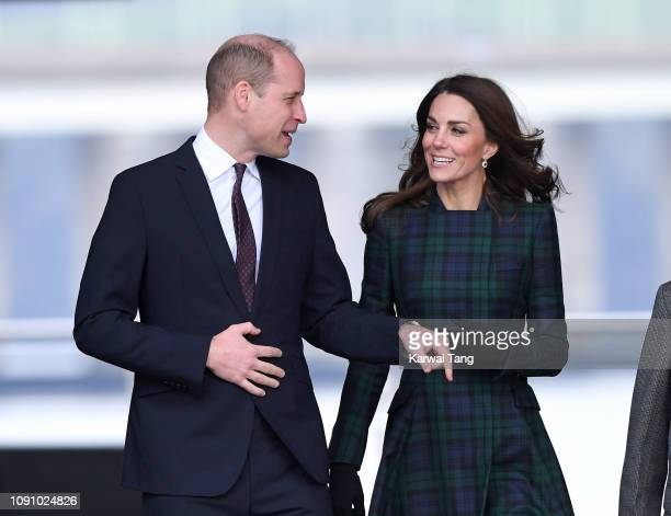 Prince William Duke of Cambridge and Catherine Duchess of Cambridge officially open VA Dundee and greet members of the public on the waterfront on...