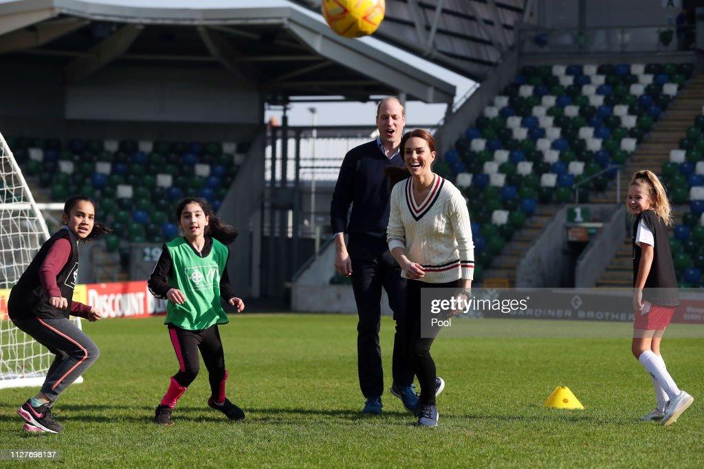Duke And Duchess Of Cambridge Visit Northern Ireland - Day One : News Photo