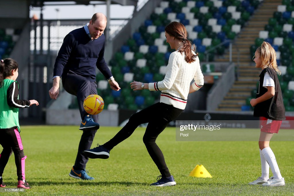 Duke And Duchess Of Cambridge Visit Northern Ireland - Day One : News Photo