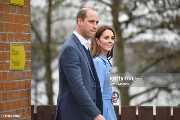 Prince William, Duke of Cambridge, and Catherine, Duchess of Cambridge, visit St Joseph's SureStart Facility on February 28, 2019 in Ballymena,...