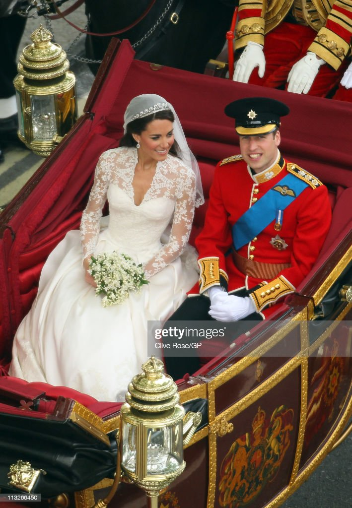 Prince William, Duke of Cambridge and Catherine, Duchess of Cambridge leave Westminster Abbey after the Royal Wedding of Prince William to Catherine Middleton at Westminster Abbey on April 29, 2011 in London, England. The marriage of the second in line to the British throne was led by the Archbishop of Canterbury and was attended by 1900 guests, including foreign Royal family members and heads of state. Thousands of well-wishers from around the world have also flocked to London to witness the spectacle and pageantry of the Royal Wedding.