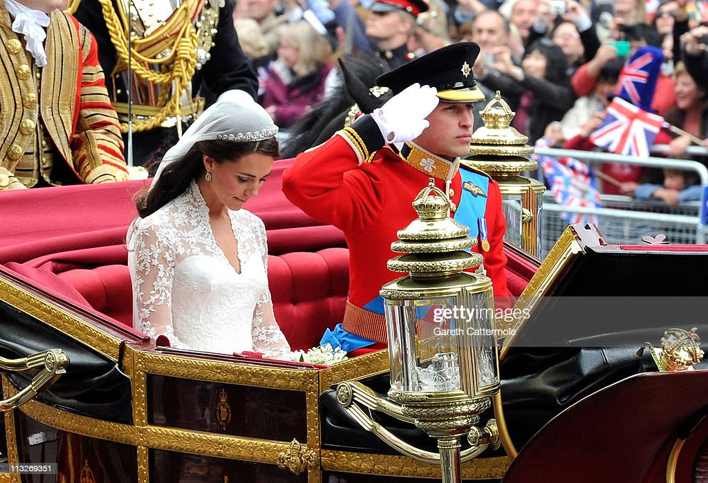Royal Wedding - Carriage Procession To Buckingham Palace And Departures : News Photo