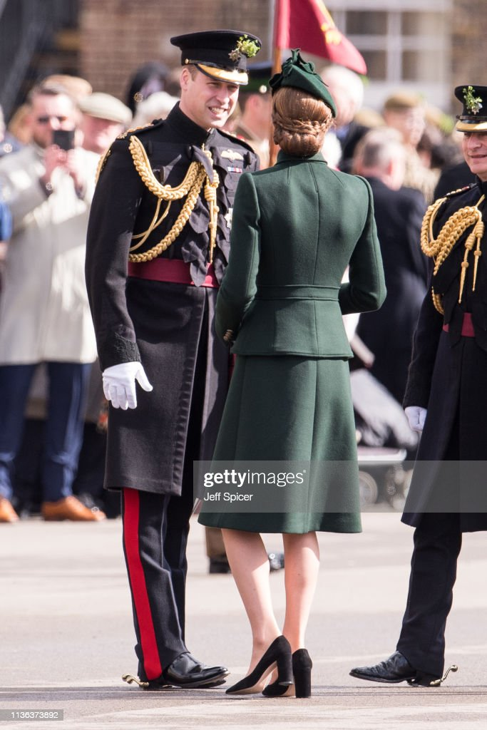 The Duke And Duchess Of Cambridge Attend The Irish Guards St Patrick's Day Parade : News Photo