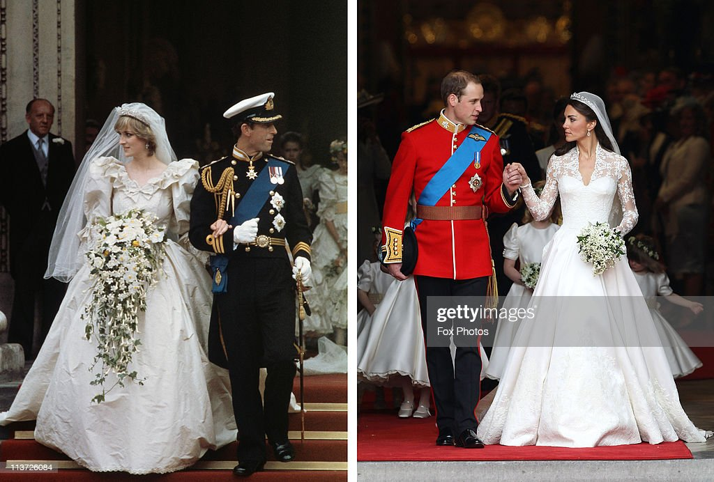 Royal Wedding Comparisons - Cathedral Exits : Nachrichtenfoto