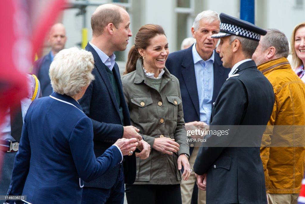 The Duke And Duchess Of Cambridge Visit Cumbria : News Photo