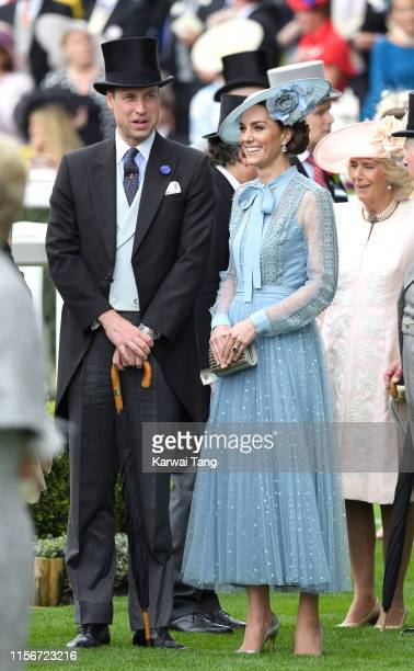 Prince William Duke of Cambridge and Catherine Duchess of Cambridge attend day one of Royal Ascot at Ascot Racecourse on June 18 2019 in Ascot England
