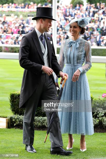 Prince William Duke of Cambridge and Catherine Duchess of Cambridge on day one of Royal Ascot at Ascot Racecourse on June 18 2019 in Ascot England