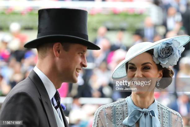 Prince William, Duke of Cambridge and Catherine, Duchess of Cambridge on day one of Royal Ascot at Ascot Racecourse on June 18, 2019 in Ascot,...