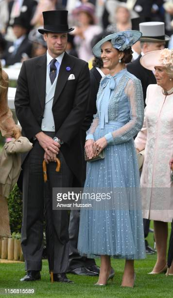 Prince William Duke of Cambridge and Catherine Duchess of Cambridge attend day one of Royal Ascot on June 18 2019 in Ascot England