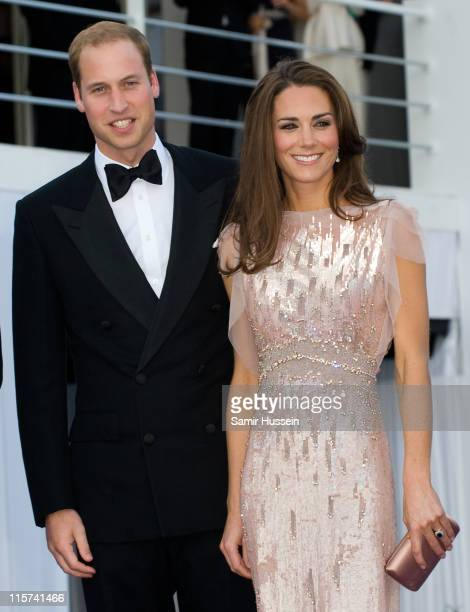 Prince William Duke of Cambridge and Catherine Duchess of Cambridge attend the 10th Annual ARK Gala Dinner at Kensington Palace on June 9 2011 in...