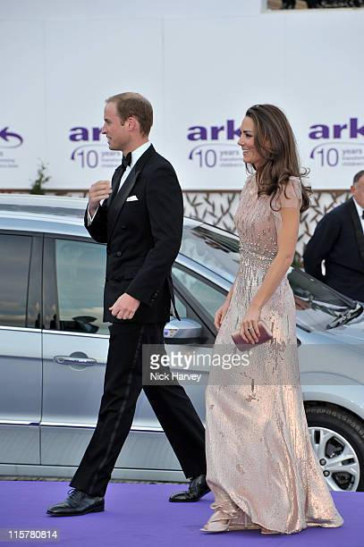 Prince William, Duke of Cambridge and Catherine, Duchess of Cambridge attend the 10th Annual ARK gala dinner at Kensington Palace on June 9, 2011 in...