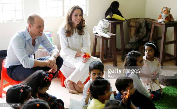 Prince William Duke of Cambridge and Catherine Duchess of Cambridge visit SOS Children's village during their royal tour of Pakistan on October 17...