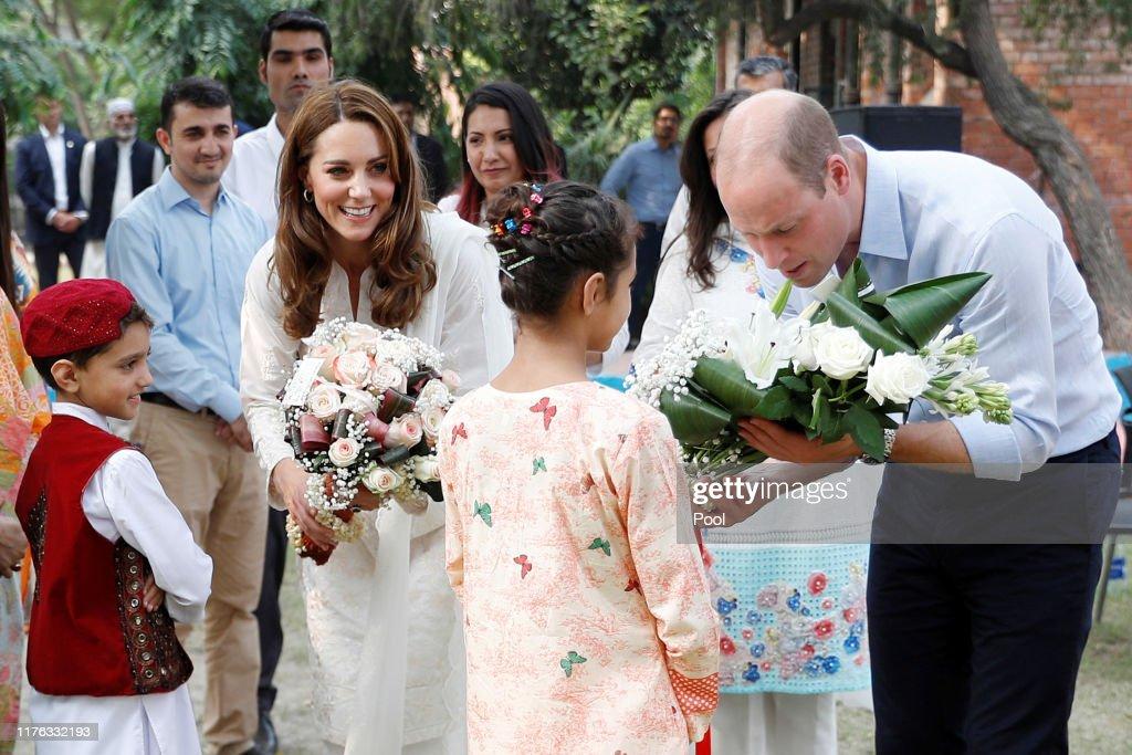 The Duke And Duchess Of Cambridge Visit Lahore : News Photo