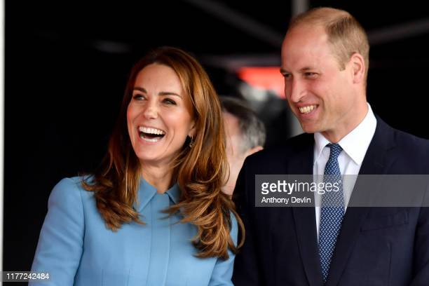 Prince William, Duke of Cambridge and Catherine, Duchess of Cambridge attend the naming ceremony for The RSS Sir David Attenborough on September 26,...