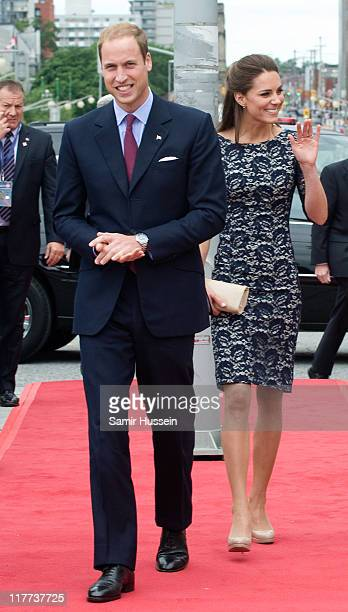 Prince William, Duke of Cambridge and Catherine, Duchess of Cambridge attend the wreath laying ceremony at the National War Memorial on day 1 on the...