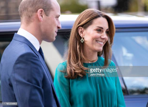 Prince William, Duke of Cambridge and Catherine, Duchess of Cambridge visit the Aga Khan Centre on October 02, 2019 in London, England. The visit is...