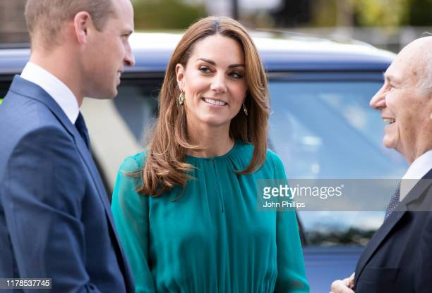 Prince William Duke of Cambridge and Catherine Duchess of Cambridge visit the Aga Khan Centre on October 02 2019 in London England The visit is ahead...