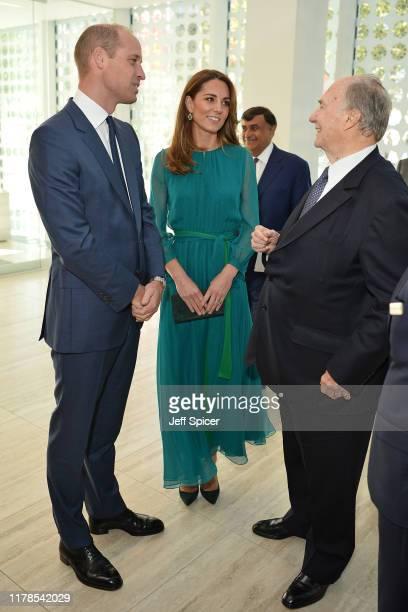Prince William Duke of Cambridge and Catherine Duchess of Cambridge meet with Prince Shah Karim Al Hussaini Aga Khan IV during a visit to the Aga...