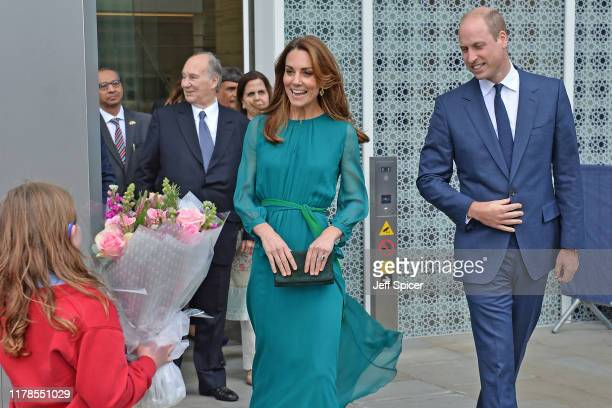 Prince William, Duke of Cambridge and Catherine, Duchess of Cambridge during a visit to the Aga Khan Centre on October 02, 2019 in London, England....