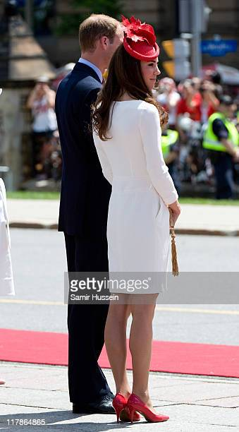 Prince William, Duke of Cambridge and Catherine, Duchess of Cambridge attend Canada Day Celebrations at Parliament Hill on day 2 of the Royal...