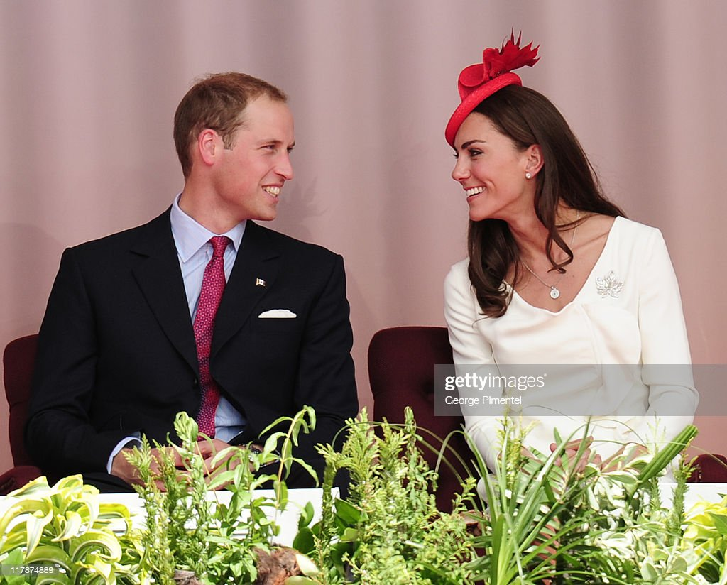 Prince William, Duke of Cambridge and Catherine, Duchess of Cambridge arrive at Parliament Hill for Canada Day Noon Show Celebrations on July 1, 2011 in Ottawa, Canada.