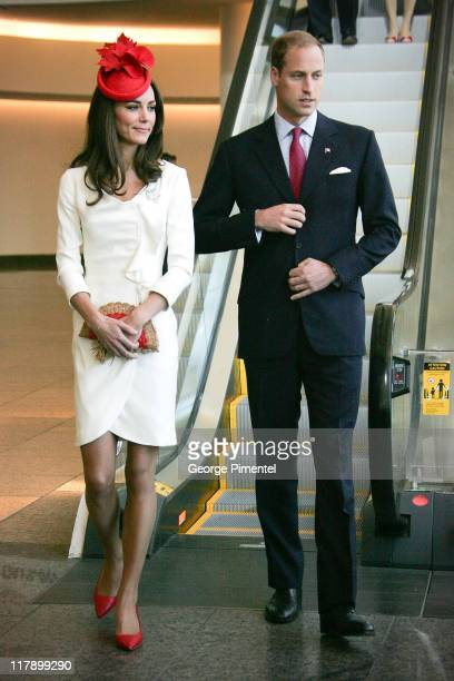 Prince William Duke of Cambridge and Catherine Duchess of Cambridge visit the Canadian Museum of Civilization to attend a citizenship ceremony on...