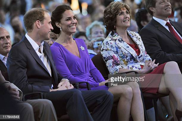 Prince William Duke of Cambridge and Catherine Duchess of Cambridge attend the Evening National Canada Day Celebrations accompanied by...