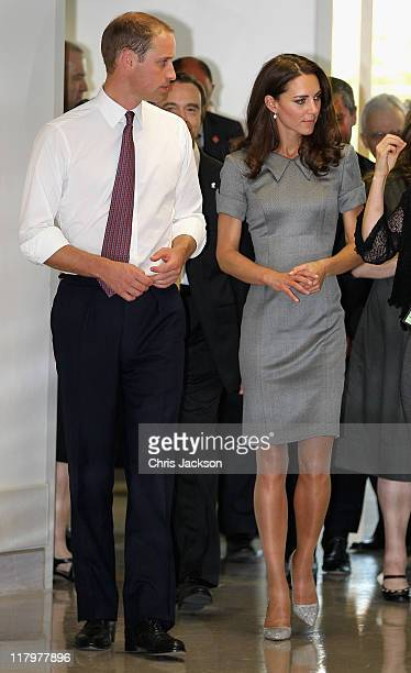 Prince William, Duke of Cambridge and Catherine, Duchess of Cambridge visit Sainte-Justine University Hospital on July 2, 2011 in Montreal, Canada....