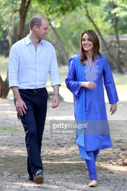 Prince William, Duke of Cambridge and Catherine, Duchess of Cambridge join a gathering of children from three different schools taking part in a...