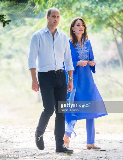Prince William, Duke of Cambridge and Catherine, Duchess of Cambridge visit the Margalla Hills National Park, which sit in the foothills of the...
