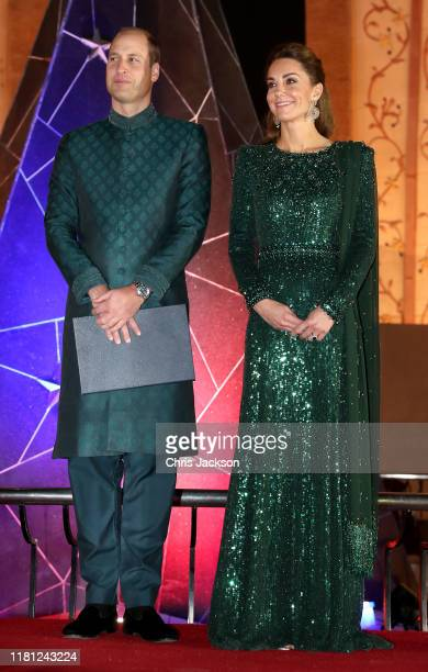 Prince William Duke of Cambridge and Catherine Duchess of Cambridge attend a special reception hosted by the British High Commissioner Thomas Drew at...